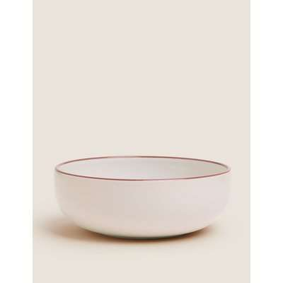 Tribeca Rimmed Stoneware Cereal Bowl red