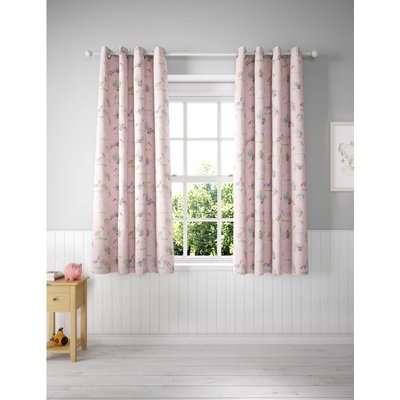 Unicorn Eyelet Blackout Kids' Curtains pink