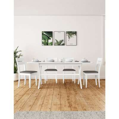 Willow Extending Dining Table white