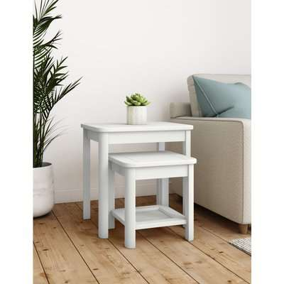 Willow Nest of Tables white