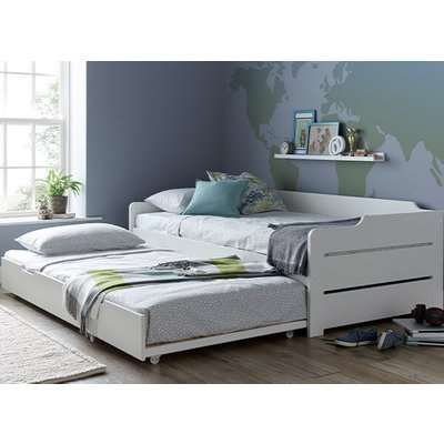 """Bedmaster Copella White Guest Bed - Single (3' x 6'3"""")"""