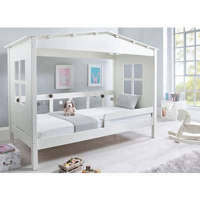 """Bedmaster Mento White Treehouse Bed - Single (3' x 6'3"""")"""