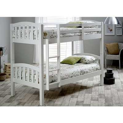 "Bedmaster Mya White Bunk Bed - Single (3' x 6'3"")"
