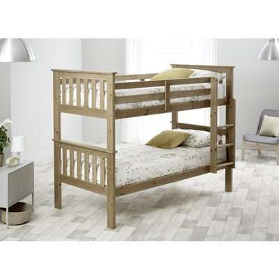 "Bedmaster Pine Carra Bunk Bed - Single (3' x 6'3"")"