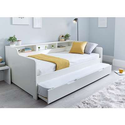 """Bedmaster Tyler White Guest Bed - Single (3' x 6'3""""), Without Trundle"""