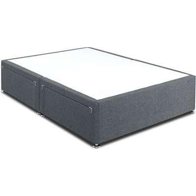"Dreamland Standard Divan Bed Base - Small Single (2'6"" x 6'3""), No Storage, Dreamland_Granite"