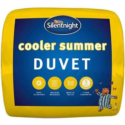 """Silentnight Cooler Summer 45 Tog Duvet - King Size (5' x 6'6"""")"""