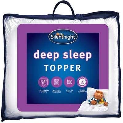 """Silentnight Deep Sleep Mattress Topper - King Size (5' x 6'6"""")"""