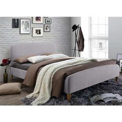 "Time Living Geneva Light Grey Bed Frame - King Size (5' x 6'6"")"