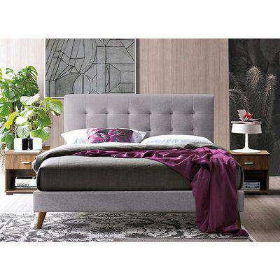 "Time Living Novara Light Grey Bed Frame - Double (4'6"" x 6'3"")"