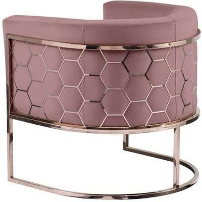 Alveare tub chair Copper -Blush pink