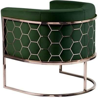 Alveare tub chair Copper -Bottle green