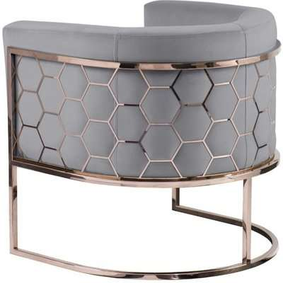 Alveare tub chair Copper -Silver