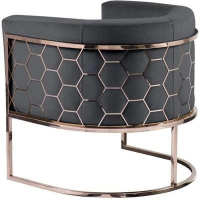 Alveare tub chair Copper -Smoke grey