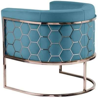 Alveare tub chair Copper -Teal