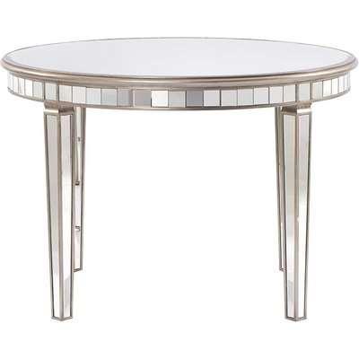 Antoinette Toughened Mirror Circular Dining Table