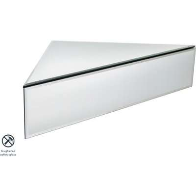 Inga Corner Mirrored Floating Bedside / Shelf / Storage System
