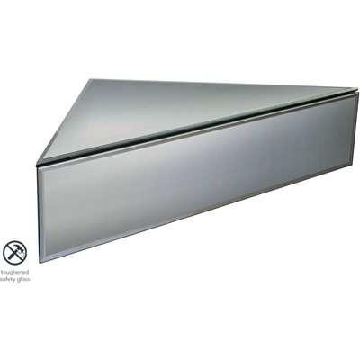 Inga Corner Smoke Mirror Floating Bedside / Shelf / Storage System