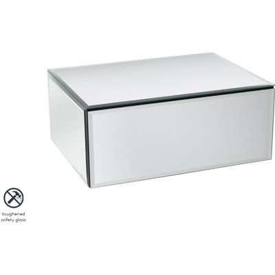 Inga Mirrored Floating Bedside / Console / Shelf / Storage System