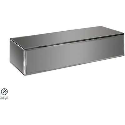 Inga Smoke Mirror Floating Console Table / Storage System