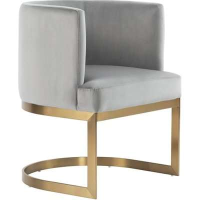 Lasco Dining Chair Dove Grey - Brushed Brass base