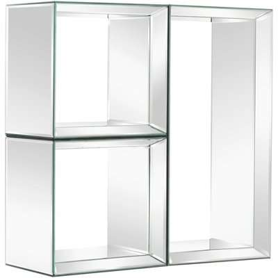 Uno - Mirrored Wall Shelves - 2 Square & 1 Rectangle
