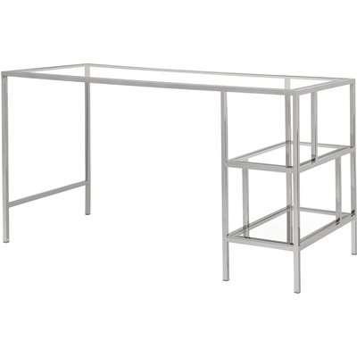 Otto Polished Silver Desk