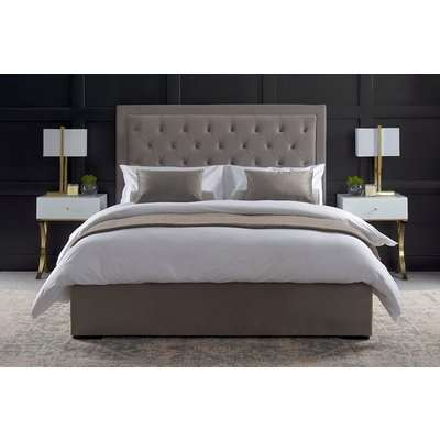 Zeno Upholstered Bed Feather Grey