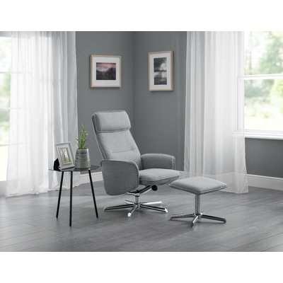 Alie Grey Linen Swivel Recliner Chair