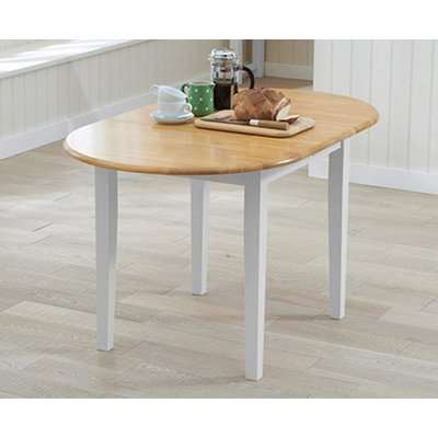 Amalfi Oak and White Extending Dining Table with Chairs - Oak and White, 4 Chairs