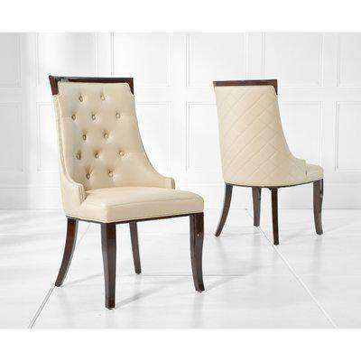 Angelica Cream Faux Leather Dining Chairs