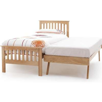 Berkshire 90cm Single Bed in Oak and Guest Bed
