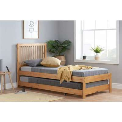Bexton Trundle Bed in Honey Pine