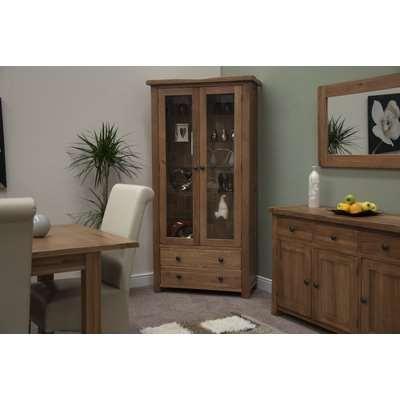 Bramley Oak Glass Display Cabinet