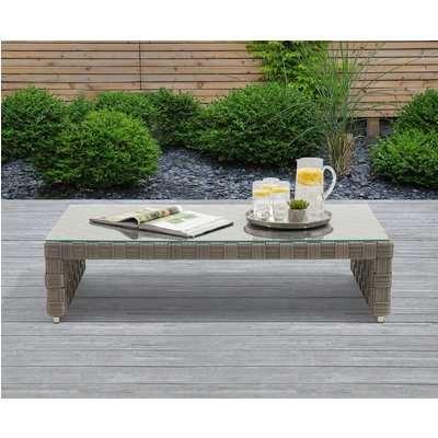 Cardinal Grey Wicker Garden Coffee Table