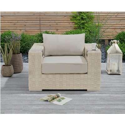 Cardinal Ivory and Cream Wicker Garden Chair