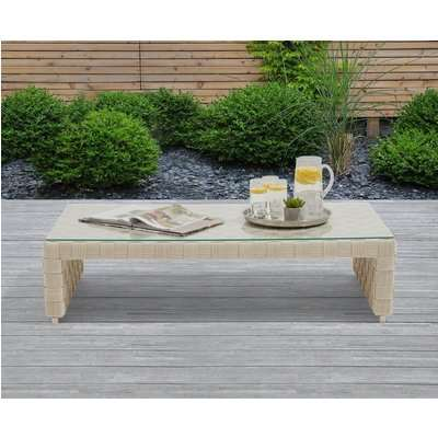 Cardinal Ivory and Cream Wicker Garden Coffee Table