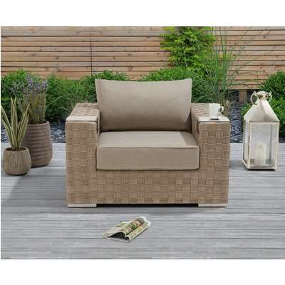 Cardinal Taupe and Brown Wicker Garden Chair