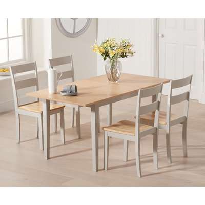 Chiltern 120cm Extending Grey and Oak Dining Table