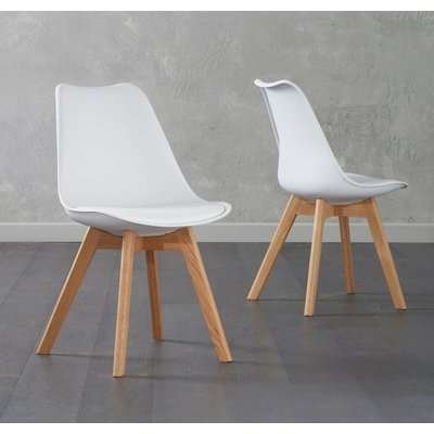Duke White Faux Leather Dining Chairs