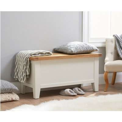 Eden Oak and White Blanket Box