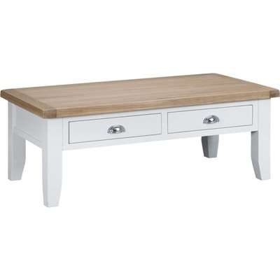 Eden Oak and White Large Coffee Table