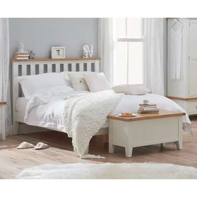Eden Oak and White Super King Size Bed