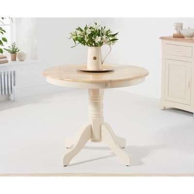 Epsom 90cm Cream Pedestal Dining Table