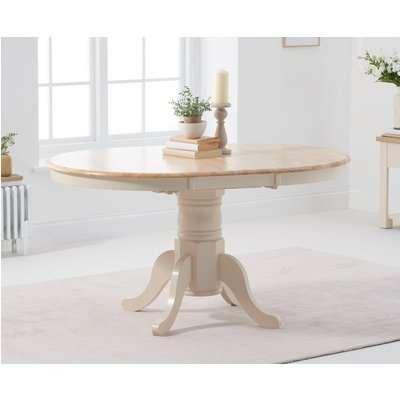 Epsom Cream Extending Pedestal Dining Table