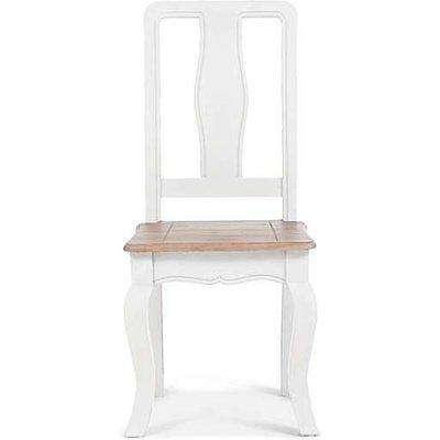 Ex-display Set of 2 Parisian White Shabby Chic Dining Chairs