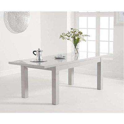 Ex-display Atlanta 160cm Extending Light Grey High Gloss Dining Table