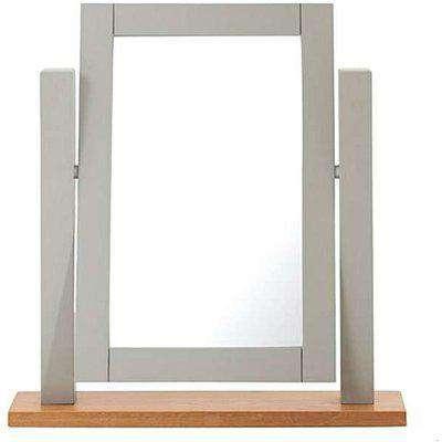 Ex-display Somerset Oak and Grey Adjustable Dressing Table Mirror