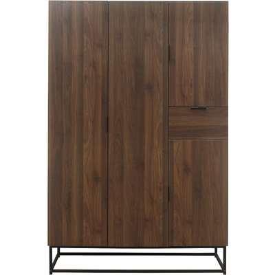 Galveston 4 Door Wardrobe in Brown