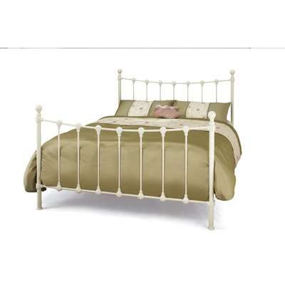 Havre 180cm Super King Bed in Ivory Gloss